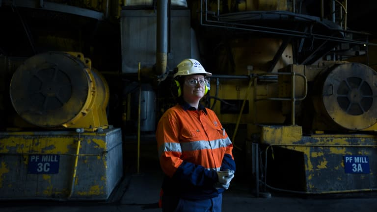Kate Coates, the general manager of AGL Macquarie, at Liddell plant last year.