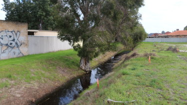 The drain site.