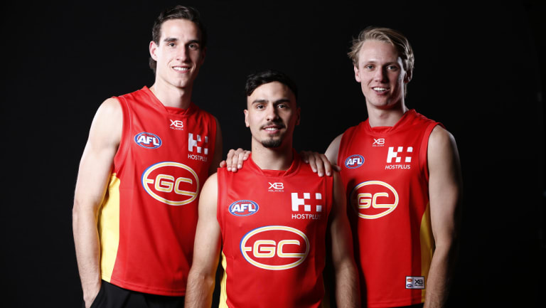 New Suns (from left) Ben King, Izak Rankine and Jack Lukosius.