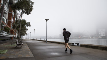Fog blankets Sydney on a cool winter morning.