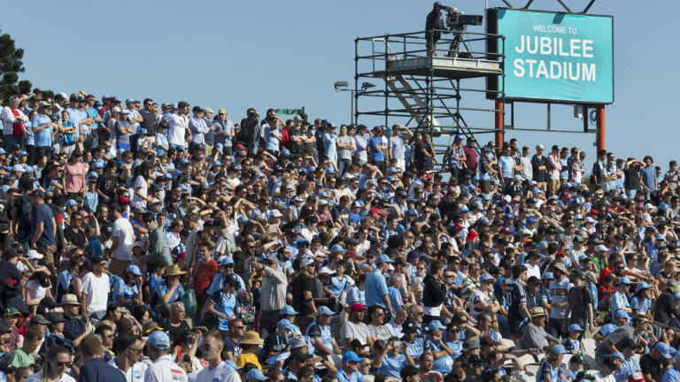 Turf war: Southern Expansion claimed credit for the full house at Jubilee Stadium for Sunday's match between Sydney FC and Melbourne Victory.