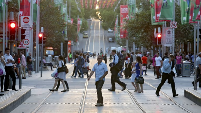 Melbourne's population grew by 2.7 per cent last year.