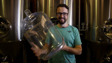 Five Barrel Brewing head Phil O'Shea will give about a tonne of grain a week to a local farmer for cattle feed.