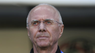 Still going: Sven-Göran Eriksson, fresh from guiding the Philippines at the Asian Cup, wants to coach Brisbane Roar.