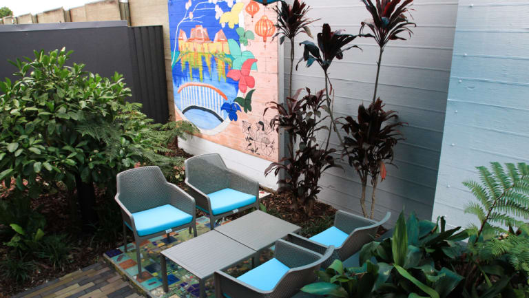 An outdoor area at short-stay mental health centre Nundah House.