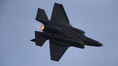 Israeli Air Force F-35 plane.