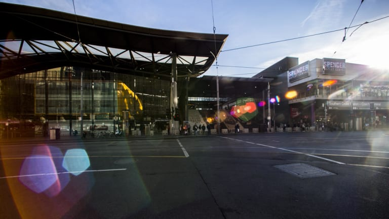 "The ""eyesore"" outlet centre on Spencer Street next to the acclaimed Southern Cross Station."