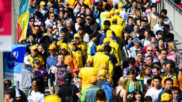 Thousands of Australian rugby supporters could be affected by a typhoon in Japan this weekend.
