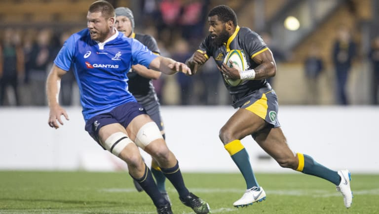 Marika Koroibete carries with intent for Cheika's Choice.