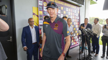 Standing firm: Wayne Bennett is intent on staying at Brisbane for the 2019 season.