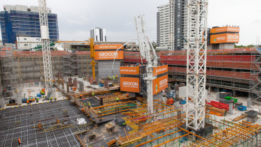 """The Republic precinct being built by Geocon in Belconnen is """"Australia's largest residential project""""."""