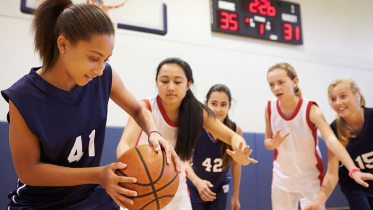 Basketball is growing in popularity for girls, especially at high school level.