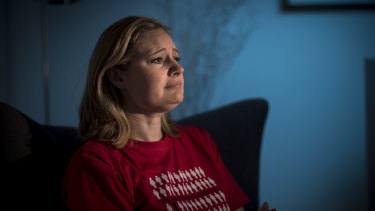 Krista Callinan, 38, lives in constant pain.