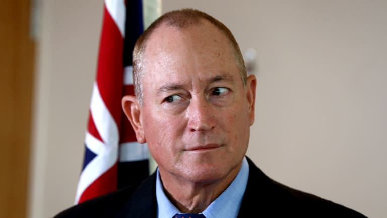 Fraser Anning's days appear to be numbered.
