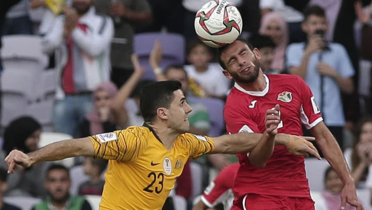 Wounded wizard: Tom Rogic broke a bone in his hand during Australia's 1-0 loss to Jordan.
