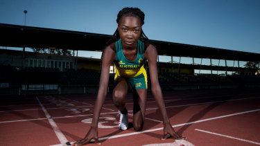 One to beat: Bendere Oboya is favoured to win the 400 metres final at the Australian titles in Sydney on Saturday.