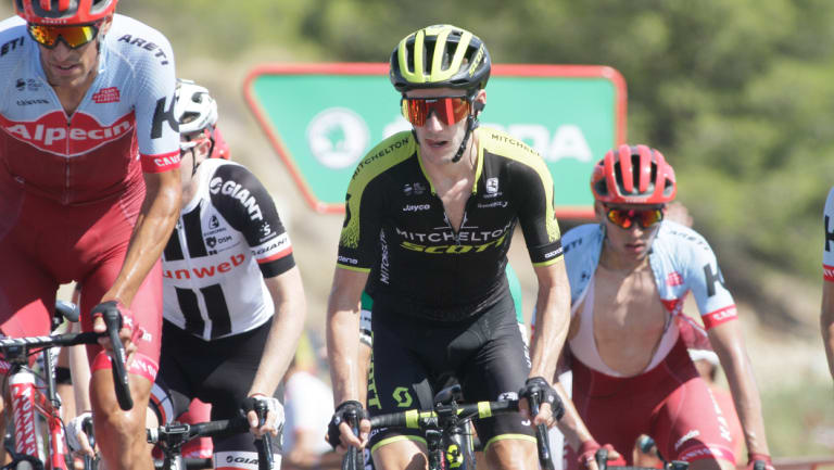Overall leader: Simon Yates has ridden Mitchelton-Scott into the red jersey at the Vuelta.