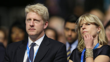 Jo Johnson and Rachel Johnson at the Conservative Party Conference in 2015.
