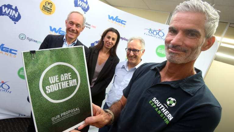 Duel: Craig Foster, head of football for the Southern Expansion bid, which is going head to head with  Macarthur-South West Sydney for an A-League licence.