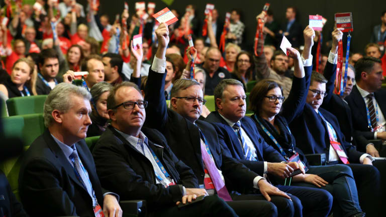 Labor's Anthony Albanese voted against asylum seeker boat turn-backs at the 2015 conference.