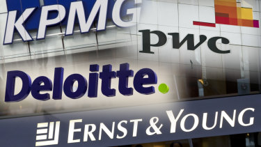 The big four accounting firms are the major beneficiaries of a move for more government consulting.