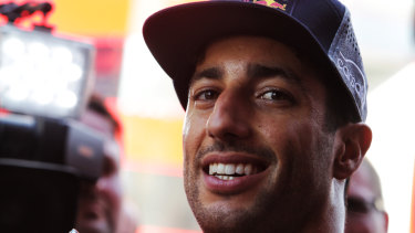 A load off: All instincts told Daniel Ricciardo he had made the right choice.