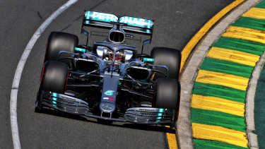 Lewis Hamilton was fastest in first practice.