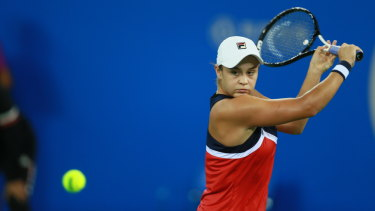 Ashleigh Barty is having another strong week in Wuhan.