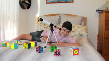 Nathan Hopkins, 14, won the title of Child Genius in an SBS TV competition but still had private tutoring before he sat a school scholarship test.