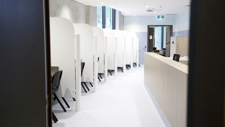 A safe injecting room in Melbourne.