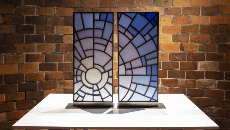 Ruth Oliphant, 'Rise', 2013, fused glass and steel.