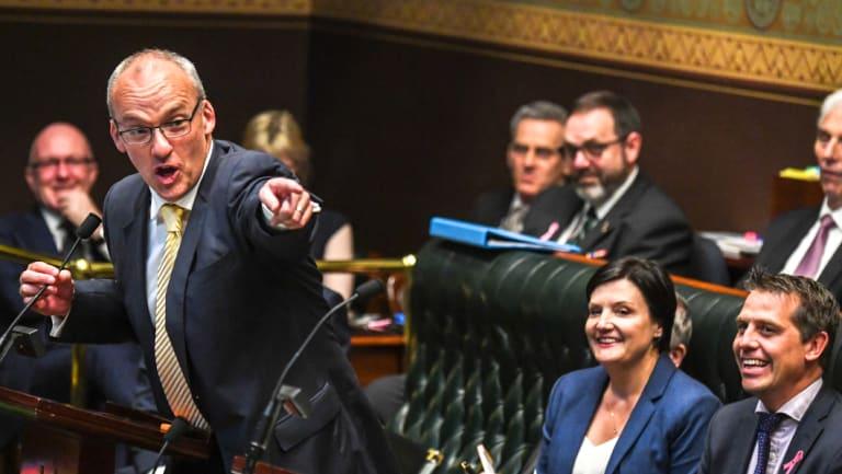 Opposition Leader Luke Foley during question time on Thursday.