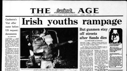 From the Archives, 1981: Irish youths rampage after hunger strike death