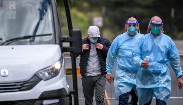 Tennis players and officials are being quarantined at the View hotel in Melbourne.