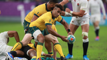 End of an era: Centurion Will Genia's Wallabies career ended unceremoniously in the quarter-finals.