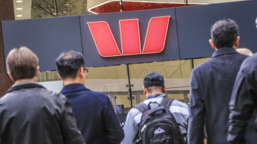 Nearly one per cent of all Westpac shares changed hands on Tuesday as investors rotated out of the stock.