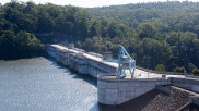 The Warragamba Dam is proposed to be lifted by 14 metres but construction is understood to provide for a future raising to 17 metres.