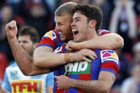 Knights' fightback win over Titans a parting gift from Meaney