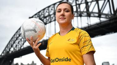 Her own force: Star striker Lisa De Vanna.