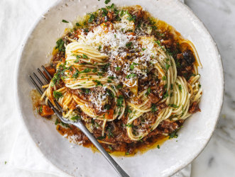 Adam Liaw's Fifty-fifty bolognese recipe.