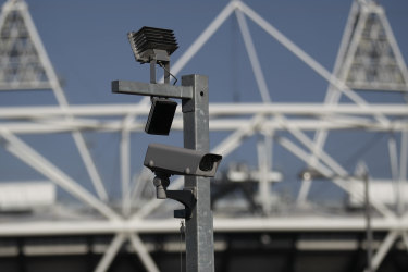 Police deployed real-time facial recognition surveillance equipment at London's Olympic Park on January 20, in a test to monitor crowds arriving for a weekend soccer match.
