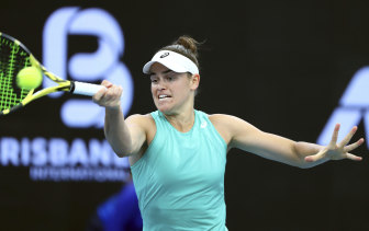 Jennifer Brady upset Barty in Brisbane to record her best WTA tour victory.