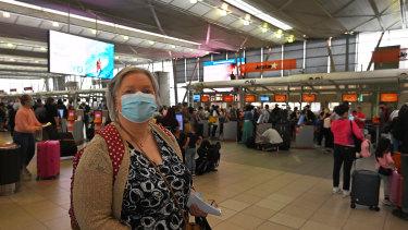 Kerrie Webster brought forward her flight to Queensland.