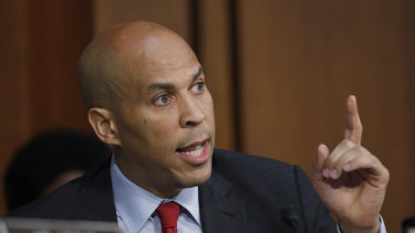 Harris may face a tough fight for support among African American voters if Senator Cory Booker, pictured, also enters the race.