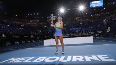 Sofia Kenin claims the 2020 Australian Open.