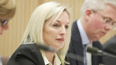 The federal opposition has demanded chairman Lucio Di Bartolomeo and general counsel Nick Macdonald front an upcoming Senate estimates hearing along with under-fire chief executive Christine Holgate (pictured).