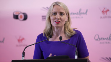 Kate Jones, Minister for Tourism and Innovation, says she is willing to explore again a tourism bus for Brisbane with seed funding from Destination Queensland.