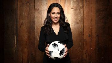 Optus Sport presenter Mel McLaughlin.