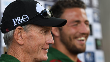 Running the Rabbitohs: Wayne Bennett has made a significant early call by changing the role played by Sam Burgess.