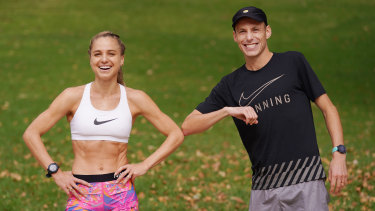 Ryan Gregson and his fellow Olympic runner wife Genevieve.